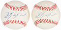 Autographs:Baseballs, Carl Yastrzemski Single Signed Baseball Lot of 2.... (Total: 2 items)