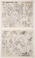 Animation Art:Model Sheet, The Practical Pig Model Sheets Group of 4 (Walt Disney, 1938). ... (Total: 4 Items)