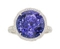 Estate Jewelry:Rings, Tanzanite, Diamond, Platinum Ring, Tiffany & Co. . ...