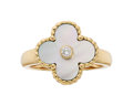 Estate Jewelry:Rings, Mother-of-Pearl, Diamond, Gold Ring, Van Cleef & Arpels, French. ...
