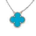 Estate Jewelry:Necklaces, Turquoise, White Gold Necklace, Van Cleef & Arpels . ...