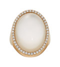 Estate Jewelry:Rings, Diamond, Rock Crystal Quartz, Mother-of-Pearl, Rose Gold Ring, Roberto Coin. ...