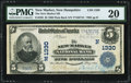 National Bank Notes:New Hampshire, New Market, NH - $5 1902 Plain Back Fr. 598 The New Market NB Ch. # (N)1330 PMG Very Fine 20.. ...