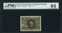 Fr. 1285 25¢ Second Issue PMG Choice Uncirculated 64