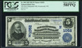 Portsmouth, NH - $5 1902 Plain Back Fr. 598 The New Hampshire NB Ch. # (N)1052 PCGS Choice About New 58