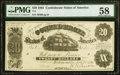 Confederate Notes:1861 Issues, T9 $20 1861 PF-13 Cr. 32 PMG Choice About Uncirculated 58.. ...