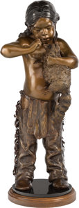 Sculpture, Glenna Goodacre (American, b. 1939). Pawna, 1983. Bronze with brown patina. 38 inches (96.5 cm) high, including base. F....
