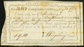Colonial Notes:Connecticut, Connecticut Interest Certificate £1. 9s.10d May 21, 1792 Very Fine,CC.. ...