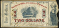 Obsoletes By State:Louisiana, New Orleans, LA- D.J. Hockersmith & Co. - Southern Mills $2 Jan. 1862 Very Good.. ...