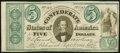 Confederate Notes:1861 Issues, CT33 Counterfeit $5 1861 Choice Crisp Uncirculated.. ...