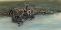 Works on Paper, Morten E. Solberg (American, b. 1935). Racoons. Watercolor and gouache on paper. 12 x 24 inches (30.5 x 61.0 cm) (sight)...
