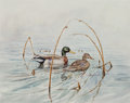 Works on Paper, Gary E. Neel (American, 20th century). Mallards and Pheasants (three works). Watercolor on paper, each. 7-1/2 x 9-1/2 in... (Total: 3 Items)