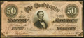 Confederate Notes:1864 Issues, T66 $50 1864 Very Fine-Extremely Fine.. ...
