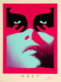Prints & Multiples:Contemporary, Shepard Fairey (b. 1970). Shadowplay (Blue), 2019. Screenprint in colors on speckled cream paper. 24 x 18 inches (61 x 4...
