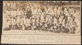 Autographs:Photos, 1933 American League All-Star Team Multi-Signed NewspaperPhotograph (9 Signatures)....