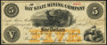 Obsoletes By State:Michigan, Eagle River, MI- Bay State Mining Company $5 Oct. 27, 1866 Very Fine.. ...