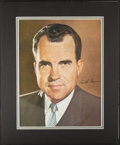 Autographs:Photos, President Richard Nixon Signed Oversized Photograph Display....