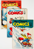 Golden Age (1938-1955):Cartoon Character, Walt Disney's Comics and Stories Group of 7 (Dell, 1942-43) Condition: Average GD.... (Total: 7 Items)
