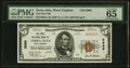 National Bank Notes:West Virginia, Terra Alta, WV - $5 1929 Ty. 2 The First NB Ch. # 6999 PMG Gem Uncirculated 65 EPQ.. ...