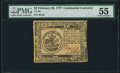 Colonial Notes:Continental Congress Issues, Continental Currency February 26, 1777 $5 PMG About Uncirculated 55.. ...