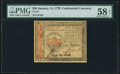 Colonial Notes:Continental Congress Issues, Continental Currency January 14, 1779 $50 PMG Choice About Unc 58 EPQ.. ...