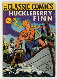 Classic Comics #19 Huckleberry Finn - First Edition (1B) (Island Publishing, 1944) Condition: FN