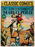 Golden Age (1938-1955):Classics Illustrated, Classic Comics #27 The Adventures of Marco Polo - First Edition (Gilberton, 1946) Condition: VF-....
