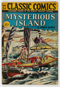 Classic Comics #34 Mysterious Island - First Edition (Gilberton, 1947) Condition: FN