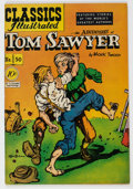 Golden Age (1938-1955):Classics Illustrated, Classics Illustrated #50 The Adventures of Tom Sawyer - First Edition (Gilberton, 1948) Condition: VF-....