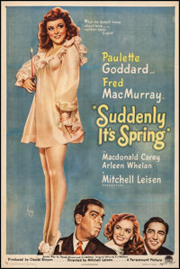 "Suddenly It's Spring (Paramount, 1946). Very Fine- on Linen. One Sheet (27"" X 41""). Alberto Vargas Artwork. Co..."