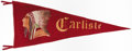 Football Collectibles:Others, c. 1940s Carlisle Indians Oversized Pennant....