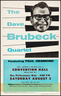 """Movie Posters:Musical, The Dave Brubeck Quartet at Convention Hall & Other Lot (1957). Fine/Very Fine. Concert Window Cards (3) (14"""" X 22.25""""). Mus... (Total: 3 Items)"""