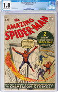 Silver Age (1956-1969):Superhero, The Amazing Spider-Man #1 (Marvel, 1963) CGC GD- 1.8 Off-white to white pages....