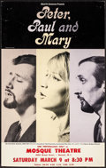"""Movie Posters:Musical, Peter, Paul and Mary at the Mosque Theatre & Other Lot (1963). Very Fine-. Window Cards (2) (13.25"""" X 21"""" & 14"""" X 22""""). Musi... (Total: 2 Items)"""