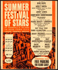 """Movie Posters:Musical, Summer Festival of Stars at Randall's Island & Other Lot (1962). Fine+. Trimmed Window Card (14"""" X 16.75"""") & Window Card (12... (Total: 2 Items)"""