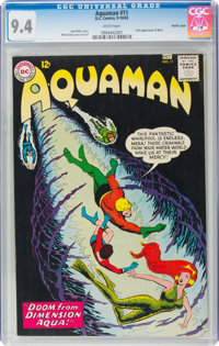 Aquaman #11 Pacific Coast Pedigree (DC, 1963) CGC NM 9.4 White pages