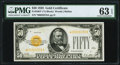 Small Size:Gold Certificates, Fr. 2404* $50 1928 Gold Certificate. PMG Choice Uncirculated 63 EPQ.. ...
