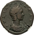Ancients:Roman Imperial, Ancients: Julia Paula (AD 219-220). AE sestertius (30mm, 21.24 gm, 1h). NGC Choice Fine★ 5/5 - 5/5....