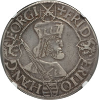German States: Saxony. Friedrich Johann & Georg Taler ND (1507-1525) VF25 NGC