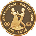 """Dominican Republic, Dominican Republic: Republic gold Proof """"Year of the Child"""" 200 Pesos 1982-CHI PR69 Ultra Cameo NGC,..."""