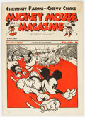Platinum Age (1897-1937):Miscellaneous, Mickey Mouse Magazine Dairy Giveaway V1#12 (Walt Disney Productions, 1934) Condition: VG+....