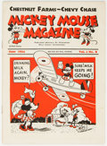 Platinum Age (1897-1937):Miscellaneous, Mickey Mouse Magazine Dairy Giveaway V1#8 (Walt Disney Productions, 1934) Condition: FN-....