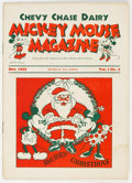 Platinum Age (1897-1937):Miscellaneous, Mickey Mouse Magazine Dairy Giveaway V1#2 (Walt Disney Productions, 1933) Condition: VG....