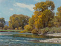Paintings:20th Century, Clyde Aspevig (American, b. 1951). Trees Lined River. Oil on canvas. 15-7/8 x 22 inches (40.3 x 55.9 cm). Signed lower l...