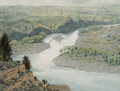 Works on Paper:20th Century, Tucker Smith (American, b. 1940). River Vista, 1982. Watercolor on paper. 10-3/4 x 14-1/4 inches (27.3 x 36.2 cm) (sight...
