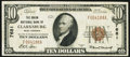 National Bank Notes:West Virginia, Clarksburg, WV - $10 1929 Ty. 1 The Union NB Ch. # 7681 Very Fine+.. ...