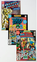 Modern Age (1980-Present):Science Fiction, Justice Society of America-Related Box Lot (DC, 1981-93) Condition:Average NM-....