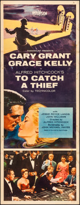 "To Catch a Thief (Paramount, 1955). Folded, Fine/Very Fine. Insert (14"" X 36""). Hitchcock"