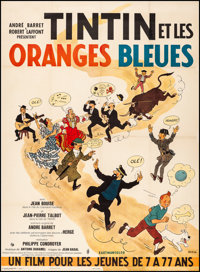 "Tintin and the Blue Oranges (Pathe Consortium Cinema, 1964). Fine/Very Fine on Linen. French Grande (46"" X 63""..."