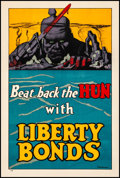 "Movie Posters:War, World War I Propaganda (U.S. Government Printing Office, 1918). Rolled, Fine/Very Fine. Liberty Bonds Poster (20"" X 30"") ""Be..."